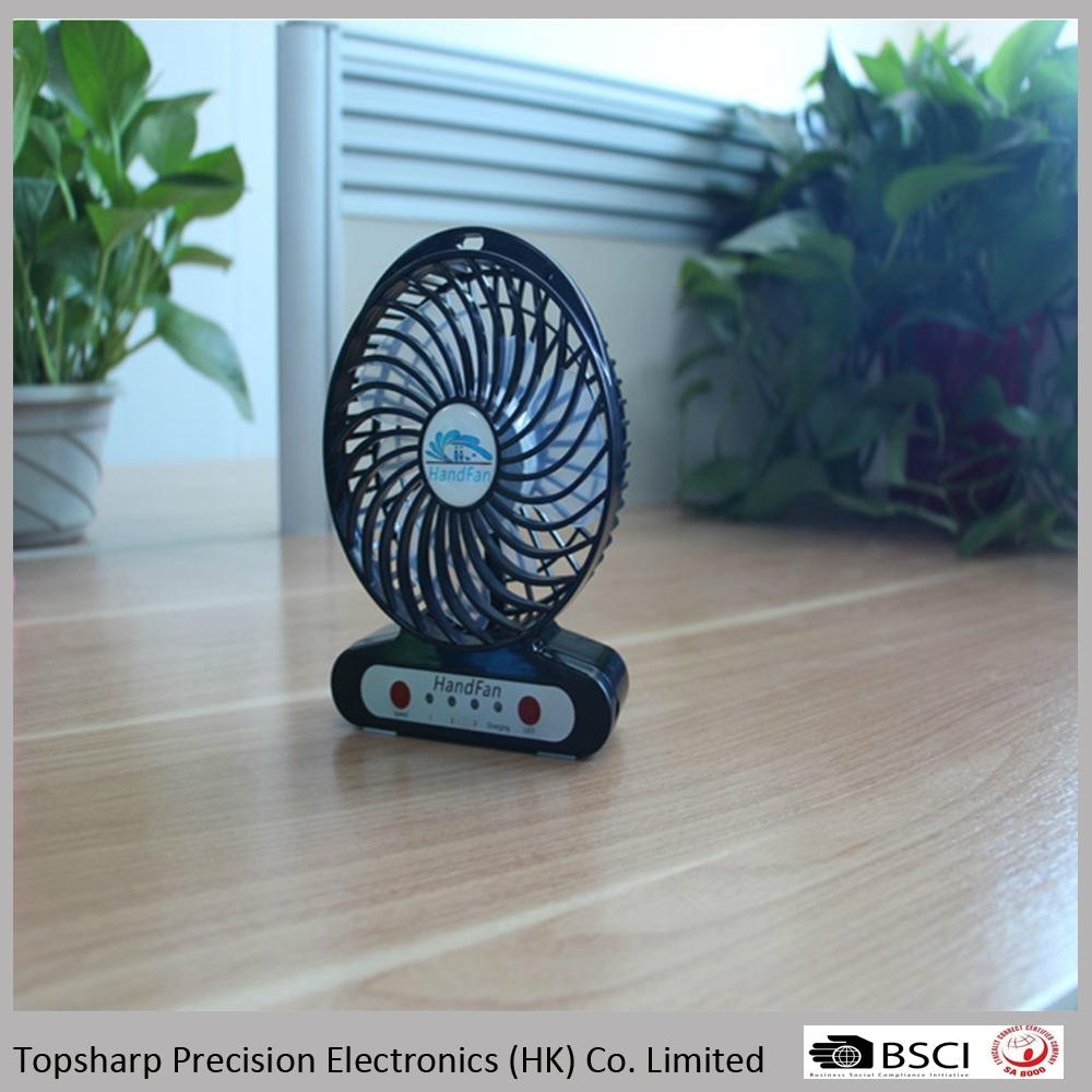 Handfan usb mini portable rechargeable fan with led light  1