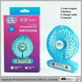 Handfan usb mini portable rechargeable fan with led light  2