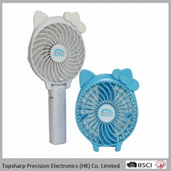 New Invention 3 in 1 foldable 4 inch cartoon usb mini pocket table fan