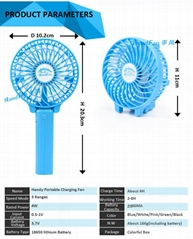 Handfan usb mini portable rechargeable handheld fan