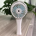 HandFan portable usb lithium battery operated colorful led light water spray fan 5