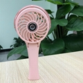 HandFan portable usb lithium battery operated colorful led light water spray fan 4