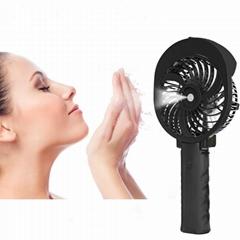 手风学生户外迷你充电加湿喷雾电风扇