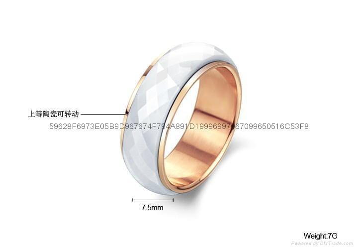 直銷陶瓷 外貿出口禮品時尚套裝戒指 3