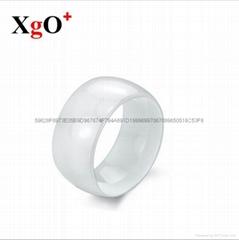 厂家批发 欧美男女白色陶瓷光滑面宽版戒指