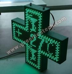 Indoor used LED Pharmacy Cross 40x40