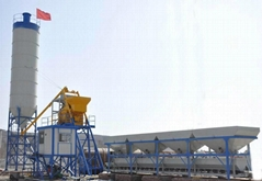 供应 HZS75混凝土搅拌站
