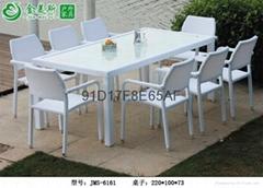 休闲酒店藤编餐桌椅家具