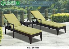 户外藤编沙滩椅家具