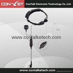 Advanced Acoustic Police Earpiece Headset PTT Mic for 2 pin Motorola Radio