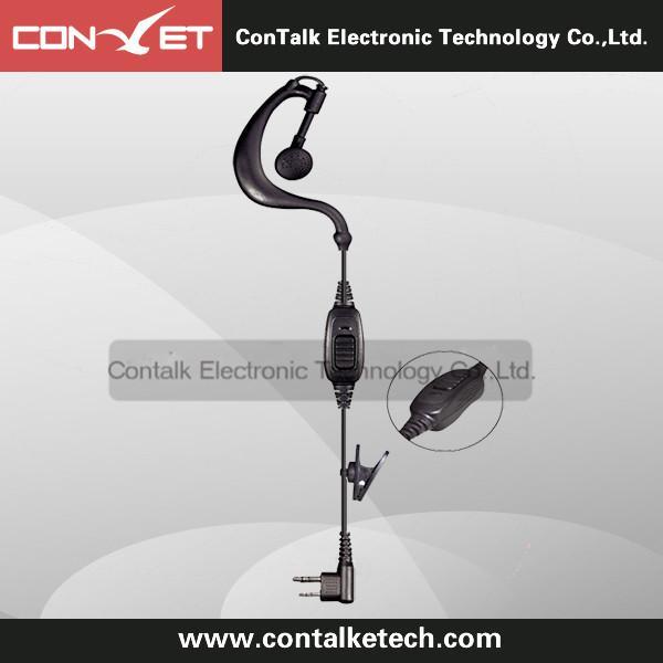 E103B-M G Shape 2 Pin PTT VOX Clip-Ear Headset Earpiece Mic for Motorola Radio