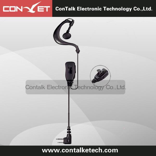 E103D-W G Shape 2 Pin PTT VOX Clip-Ear Headset Earpiece Mic for Wintec radio