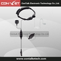 Flexible Throat Mic Microphone Covert Acoustic Tube Earpiece Headset Finger PTT
