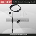 Flexible Throat Mic Microphone Covert Acoustic Tube Earpiece Headset Finger PTT