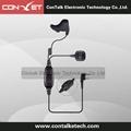 2 PIn Ear Vibration Conduction Earbone Earpiece Headset Finger PTT for Motorola