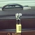 4 number brass padlock