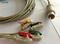 one piece M&B ECG cable 6 pin 5 leads clip used for CD2000