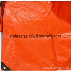 best price 150gsm orange color roofing cover tarpaulin