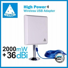 Outdoor WiFi antenna 36dbi High Power 2000mW