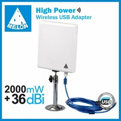 36dbi wifi adapter 10m usb cable