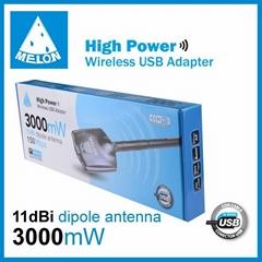 3000mW wifi usb adapter omini antenna 11dbi