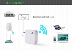 Portable wall plug  wifi repeater