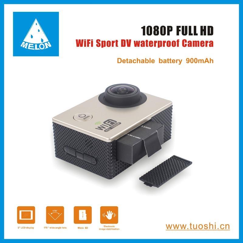 1080P 140 Degree Lens 2'' DV Bicycle Helmet Action Sport Camera  2