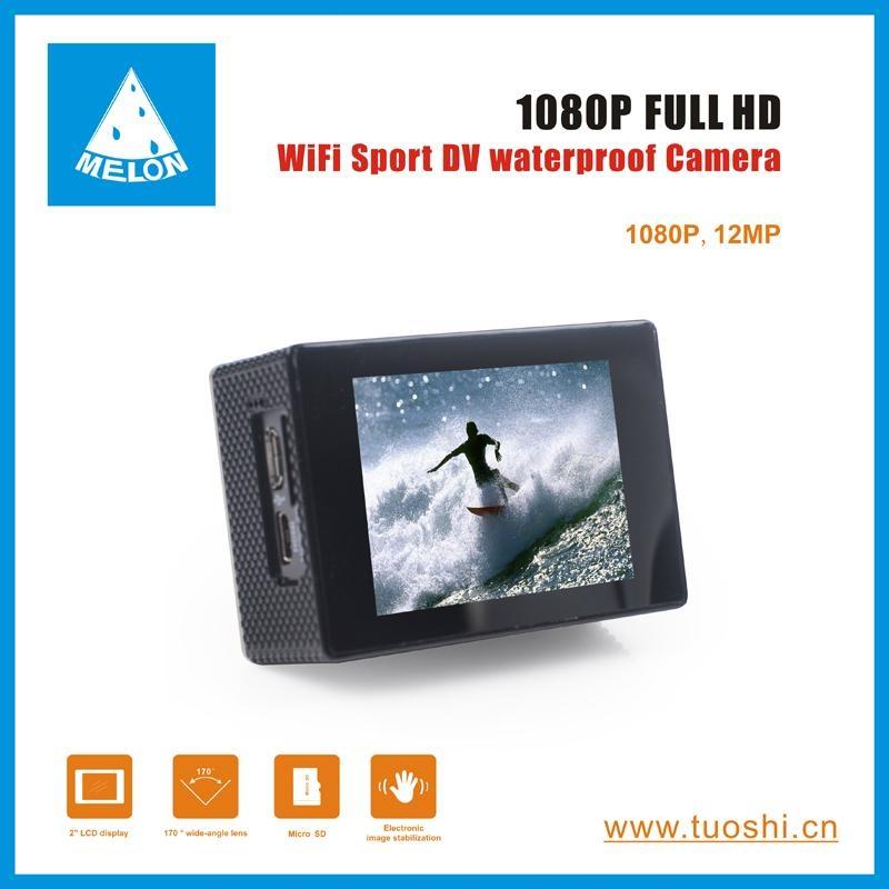 1080P 140 Degree Lens 2'' DV Bicycle Helmet Action Sport Camera  3