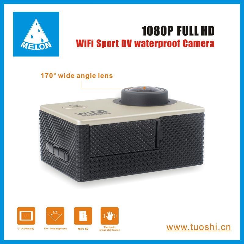 1080P 140 Degree Lens 2'' DV Bicycle Helmet Action Sport Camera  4