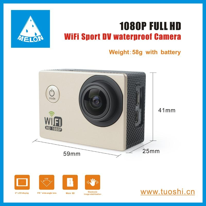 1080P 140 Degree Lens 2'' DV Bicycle Helmet Action Sport Camera  5