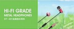 Original Stereo Bass earphone Headphones fone de ouvido Metal handsfree Headset