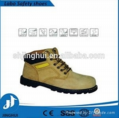stylish yellow protective steel toecap safe leather shoes