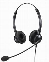 Binaural Telephone Headset Call Center Headset