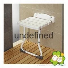 牆挂折疊式附腳架洗澡椅