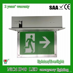 fire emergency led fire effect recessed ceiling light with built-in battery