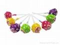 multi-color hard fruit flavor lollipop