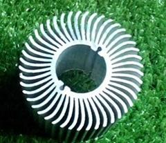 长期供应优质太阳花散热器工业铝型材