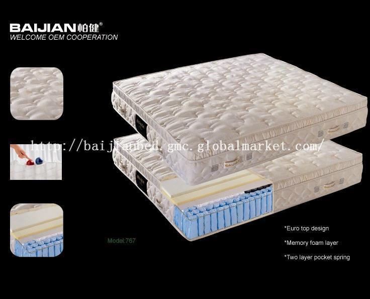 Memory Foam And 5 Zone Pocket Spring Mattress 2