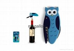 Owl Corkscrew Bottle Opener