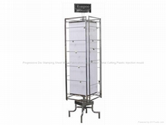 Rotating Counter Rack with Hooks-Grocery Food Racks-Custom Retail Display