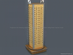 Rotating Counter Rack with Hooks-Wire Store Display Racks-Custom Retail Display