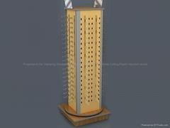 Rotating Counter Rack with Hooks-Wire Store Display Racks-Custom Retail Display
