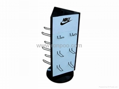 Display Rack for Hanging Items-Counter Top Slatwall Display-Shoe Fitting