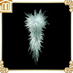 Hand made blown decoration art colored white crystal murano glass chandelier