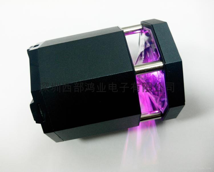便攜式帶LED燈無線藍牙音響 5