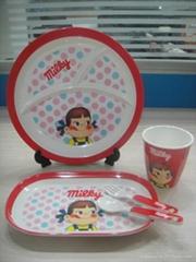 Melamine children's tableware set