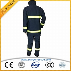 EN469 CE Approval Aramid 4 Layers Fire Fighting Suit Anti Fire Clothing