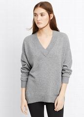 lady cashmere sweater V neck