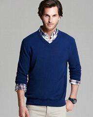 man cashmere sweater V neck
