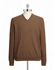 men cashmere sweater V neck
